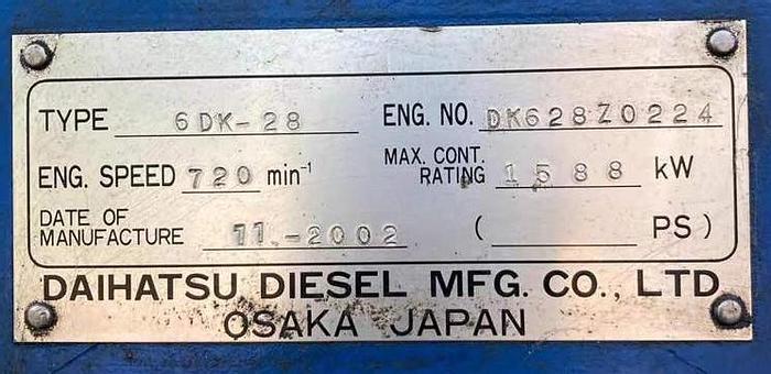 Used 2002 Daihatsu 6DK-28