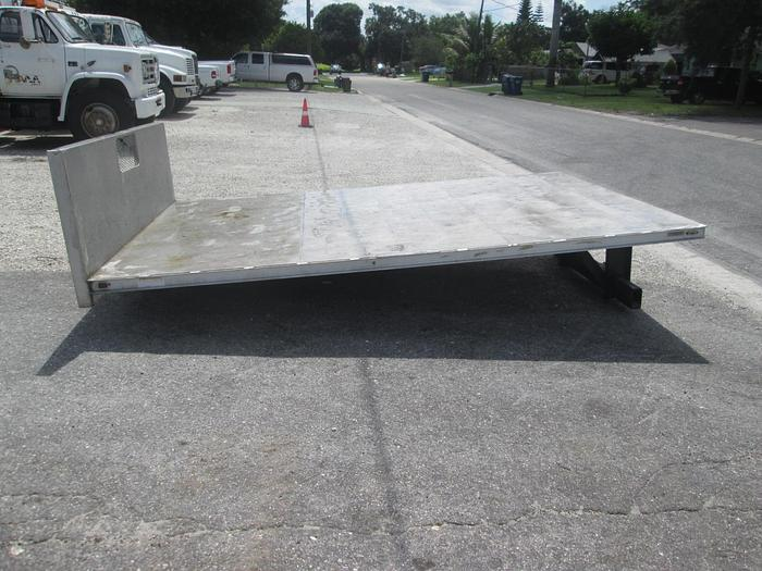 Used 8'x12' Aluminum Flat Bed Truck Body with Dump