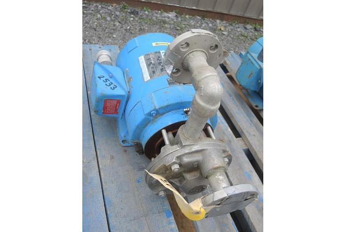 """USED CENTRIFUGAL PUMP, 1"""" X 1"""" INLET & OUTLET, STAINLESS STEEL"""