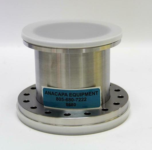 "Used Vacuum Half Nipple Flanges 5"" to 6"" Stainless Steel, 4.5"" Long, DN100 (8680)W"