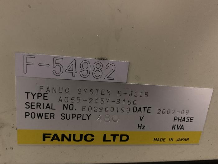 FANUC S500iB 15KG X 2757MM REACH 6 AXIS CNC ROBOT