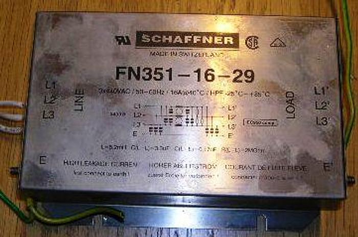 Used FILTER SCHAFFNER, type FN351-16-29