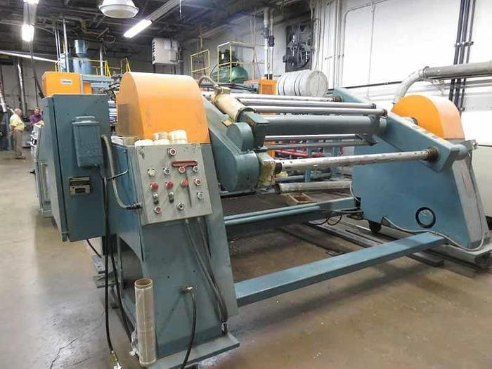 "Used 64"" WIDE CROWN SHEET LINE WITH 4.5"" EXTRUDER"