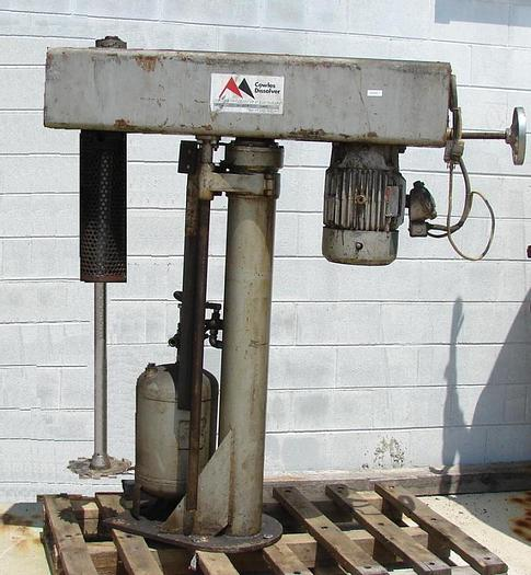 Used 10 HP COWLES HIGH SPEED DISPERSER – AIR/OIL – UL LISTED (#9645)