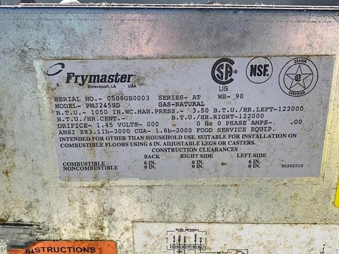 Frymaster 2 Basket Fryer PMJ245SD