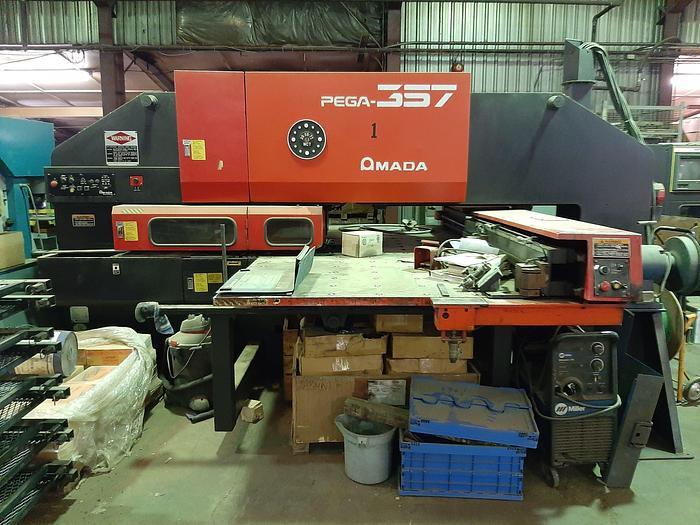 Used 1995 AMADA PEGA 357 30 TON CNC TURRET PUNCH