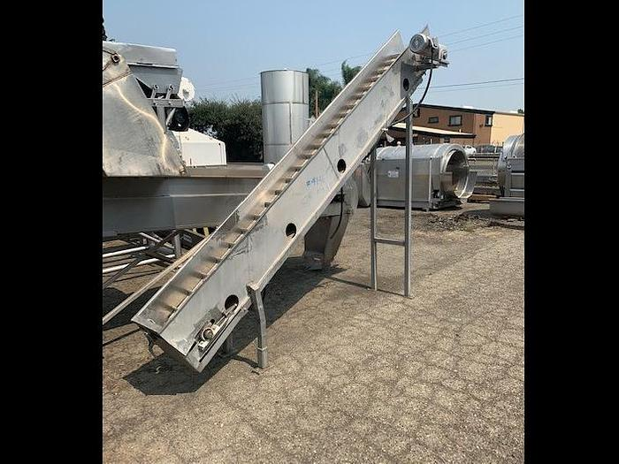 "Used 12' Long' x 12"" Wide Stainless Steel Elevator"