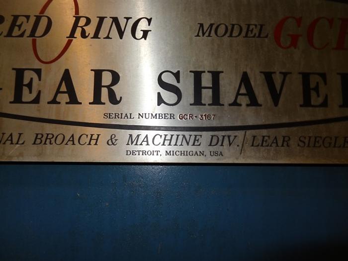 "NATIONAL BROACH GCR-12"" INTERNAL GEAR SHAVER"
