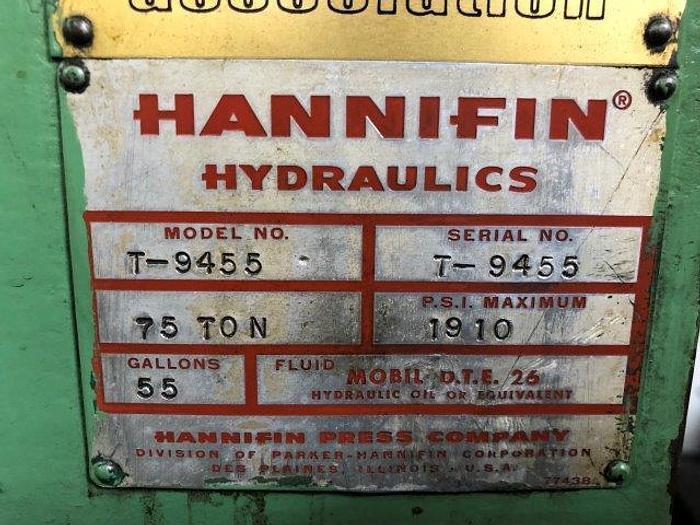 "75 Ton, HANNIFIN, 12"" X 84"" TABLE, 10 HP, 9.5"" STROKE [5314]"