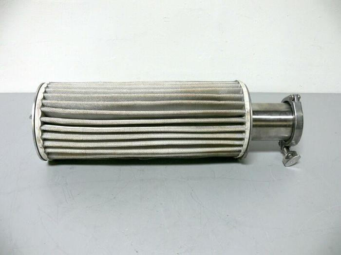 """Used Lab Exhaust Filter Housing w/ 3.5"""" OD Sanitary Fitting"""