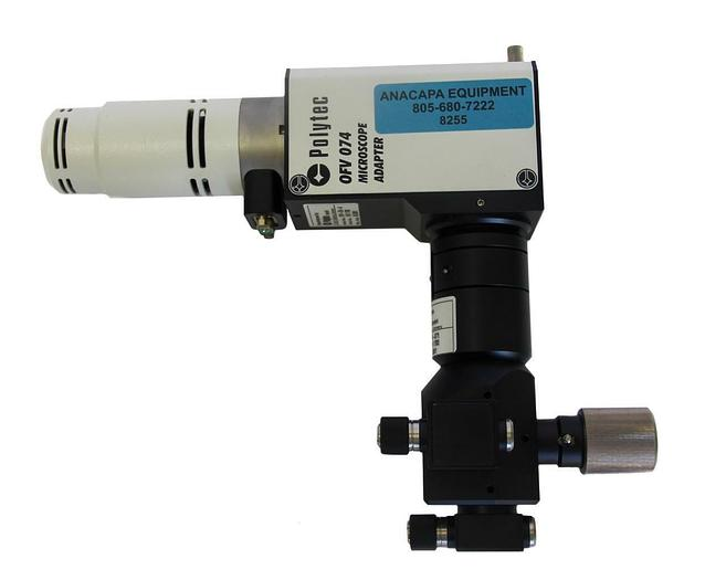 Used Polytec OFV-074 Microscope Adapter & OFV-071 Manual Positioner (8255)W