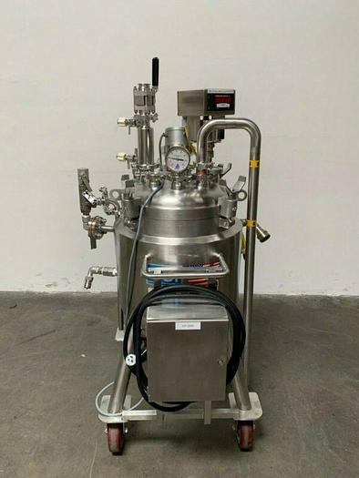 Used DCI 50 Liter 316L Stainless Steel Jacketed Reactor 45 PSI
