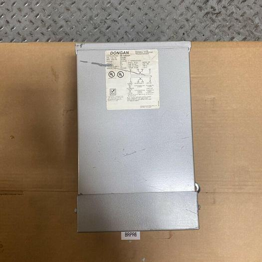 Used Preowned DONGAN 240X480V Single Phase General Purpose Transformer 85-1050SH