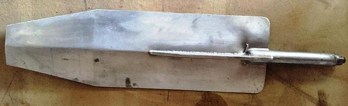 Used STAINLESS STEEL PADDLE. This paddle has been used in food industry.