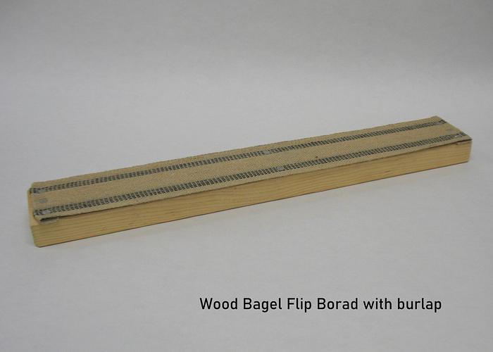 Bagel Flip Board w/Burlap (Wooden)