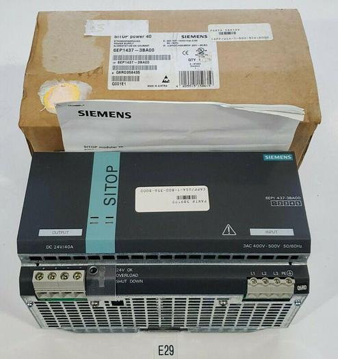 *NEW IN BOX* SIEMENS 6EP1437-3BA00 SITOP Power 40 Power Supply + Warranty!