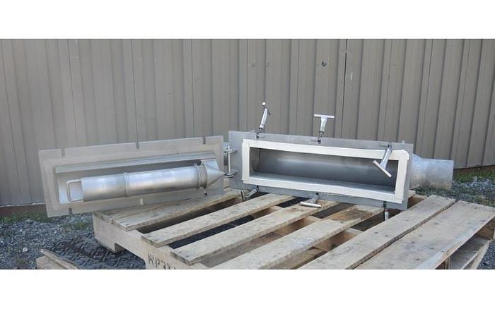 USED 4'' INLINE DRY BULK MAGNET TRAP, STAINLESS STEEL