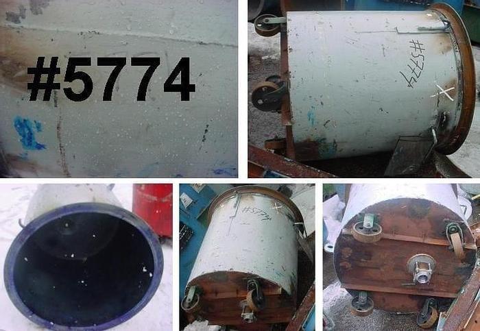 Used 125 GALLON PORTABLE MIX TANK – C/S – 35.75 in. DIA. X 38 in