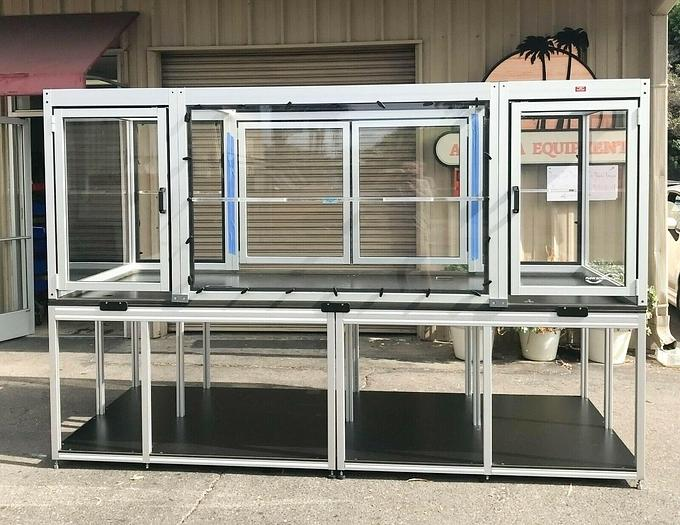 "Used Flow Sciences Inc. Framed Enclosure CQ03397 124x51x44"" USED (4806)R"