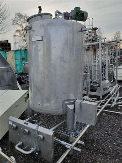 Used 900 Litre Stainless Steel Agitated Tank
