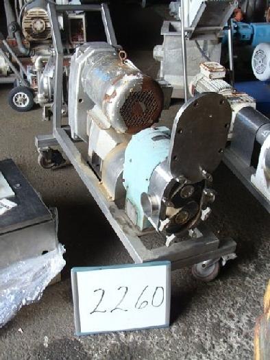 Used PR Tri-Clover Positive Displacement Pump #2260