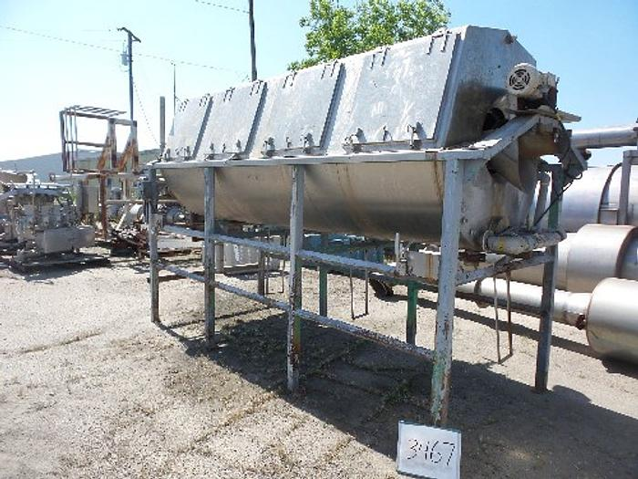 AK Robins 4' Diameter x 16' Long Hot Water Rotary Blancher