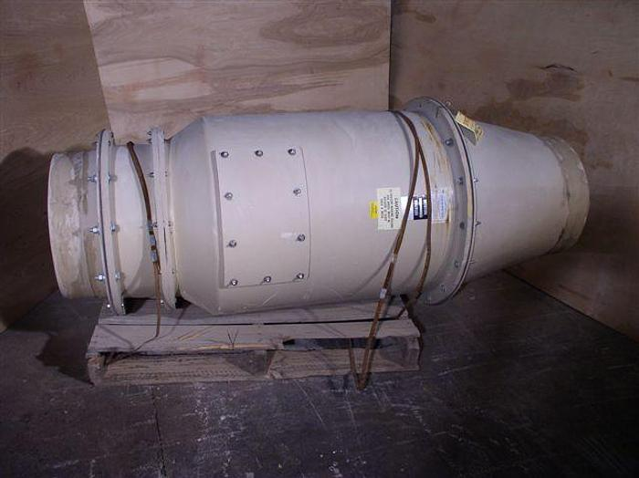 Used 3 HP Harrington Model HPI-1825 Industrial Exhaust Blower; Turbine Type; High Velocity; All Fiberglass