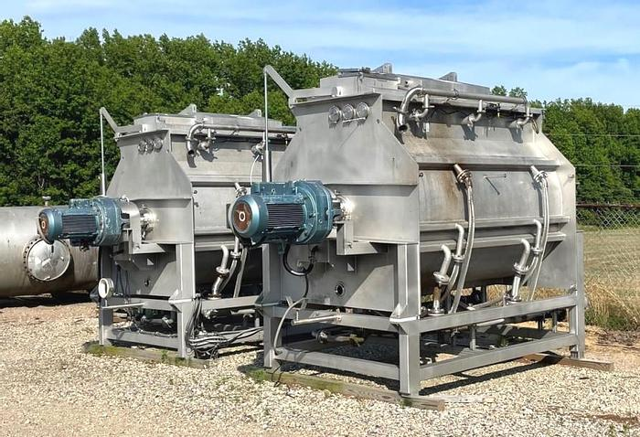 Used 160 CU. FT. BLENTECH RIBBON/PADDLE MIXER - 316 S/S - JACKETED