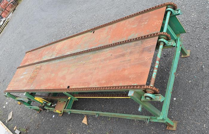 Used 3 strand chain transfer deck used, used chain 3 strand deck, three strand lumber transfer deck, 22ft S drive 3 stand chain deck transfer, lumber transfer chain deck S drive