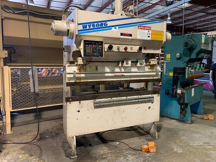 40 Ton x 6' Wysong Hydra-Mechanical CNC Press Brake