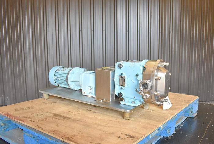 Used USED WAUKESHA ROTARY LOBE PUMP, MODEL 30-U2, STAINLESS STEEL