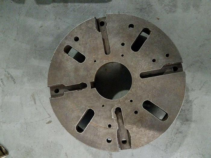 """Used 12"""" Dog Plate for Lathe with threaded back"""