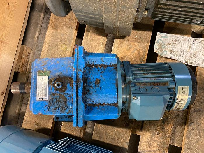 Used ABB Motors Electric motor with reducer 0,75 kW
