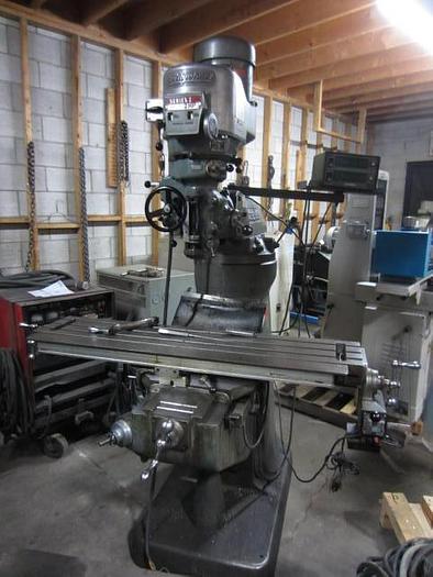 "9"" x 48"" Bridgeport Series 1-2HP Vertical Turret Milling Machine 5604"