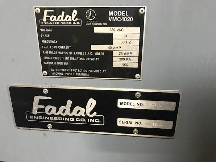 1989 FADAL  VMC 4020 - Video
