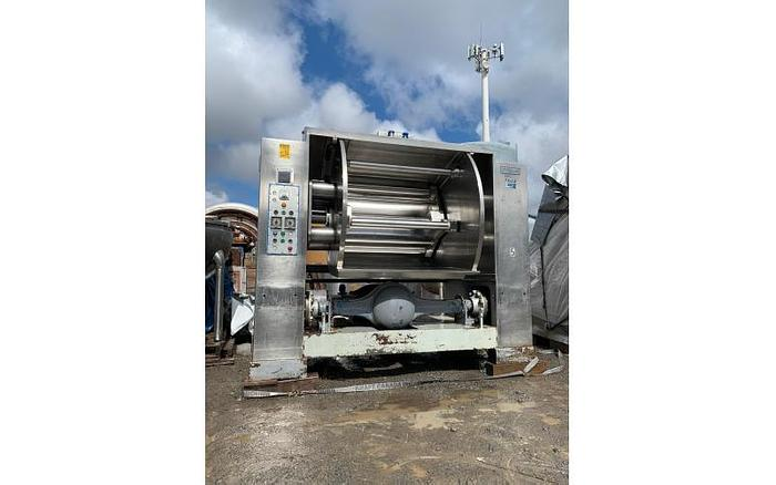 Used USED PEERLESS HD13 ROLLER BAR DOUGH MIXER, 1300 LBS CAPACITY, STAINLESS STEEL, JACKETED