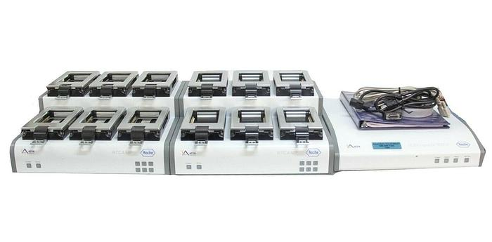 Used Roche ACEA RTCA MP 6X96 Station (TWO)  xCELLigence W380 Analyzer LOT (7286) R