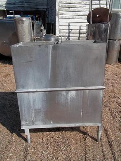 Used 100 Gallon Stainless Steel Vat on Legs - Wash Vats Equipment