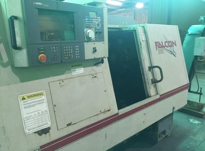 Cincinnati Falcon 200 ERL CNC Lathe, Acramatic 2100 CNC, RS232C Interface, 1997