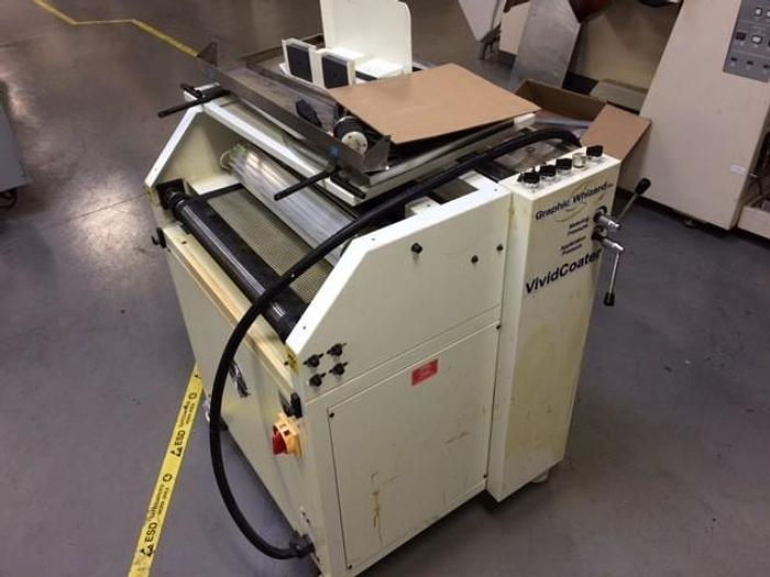 """Used 20.75"""" GRAPHIC WIZARD VIVID COATER COVERS 5000 SHEETS"""