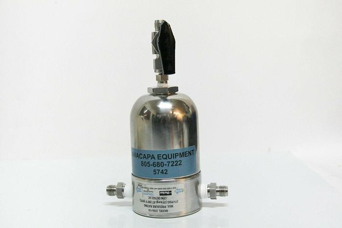 Used Parker Balston 33S6-1/4 Stainless Steel Filter Housing 1/2 NPT(1) SS-42S4 (5742)