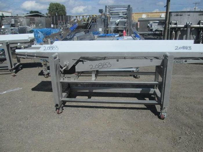 """Used Stainless Steel Conveyor; 20""""W x 10'L"""