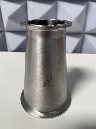 """Used Anderson  Stainless Steel 5"""" Tapered 2"""" to 3"""" Sanitary Fitting Reducer"""