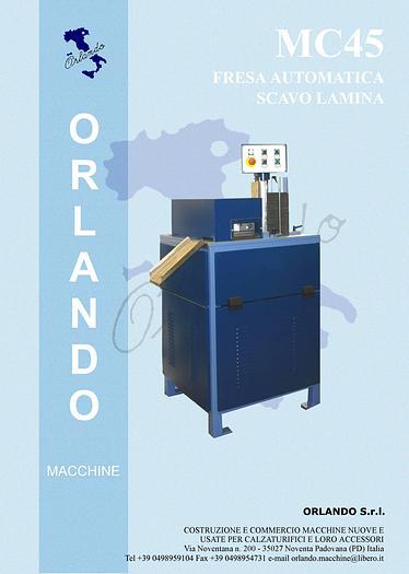 MC45 FRESA AUTOMATICA SCAVO LAMINA / AUTOMATIC MILLING MACHINE