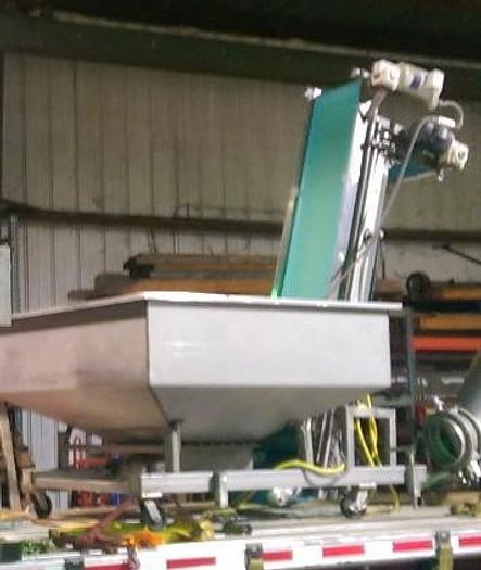 Used DOUGH PUMP AND INCLINE CONVEYOR