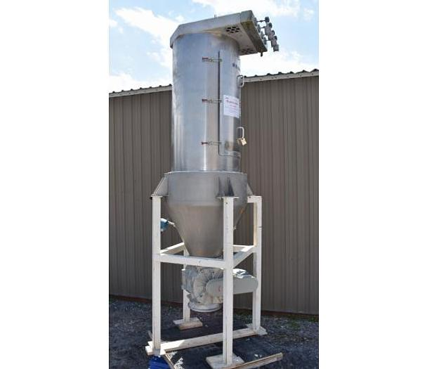 USED DUST COLLECTOR, PULSE AIR, 1440 CFM APPROX., 241 SQ.FT., ALUMINUM / STAINLESS