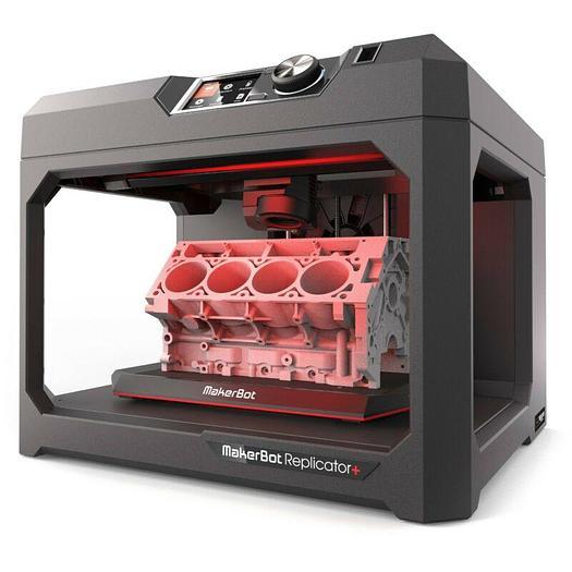 Used MakerBot Replicator+ MP07825 Desktop 3D Printer