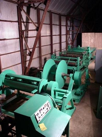"14 Ga x 54"" WELTY-WAY Model F48 Cut-To-Length & Slitting Line; 10,000 lb. Coil Capacity"