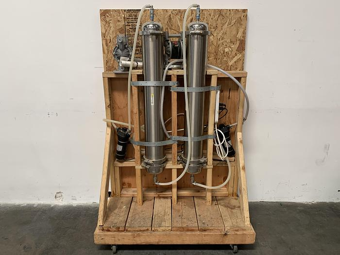 """Used Xtractor Depot 6.5"""" x 40' (2) Stage Molecular Sieve Filter w/ 2 Pressure Pumps & 2 Diaphragm Pumps"""