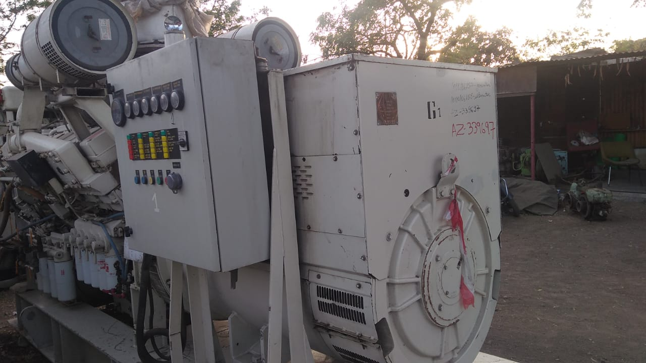 1.2MW (12000 KW) used Cummins KTA50DM1 Diesel Generator Set